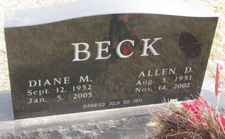 BECK, DIANE M. - Dodge County, Nebraska | DIANE M. BECK - Nebraska Gravestone Photos