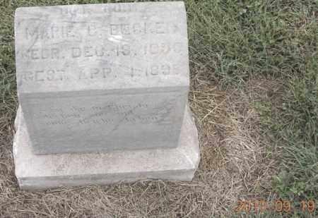 BECKER, MARIE C - Dodge County, Nebraska | MARIE C BECKER - Nebraska Gravestone Photos