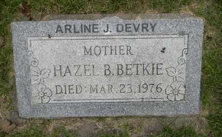 BETKIE DEVRY, ARLINE J. - Dodge County, Nebraska | ARLINE J. BETKIE DEVRY - Nebraska Gravestone Photos