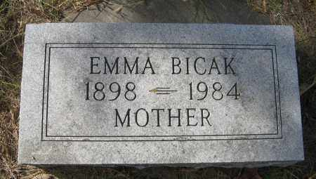 BICAK, EMMA - Dodge County, Nebraska | EMMA BICAK - Nebraska Gravestone Photos
