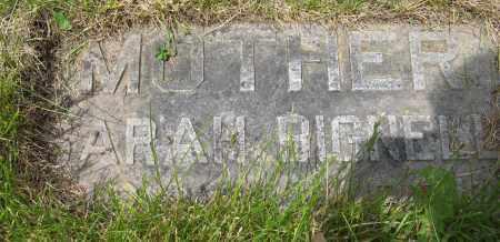 BIGNELL, SARAH - Dodge County, Nebraska | SARAH BIGNELL - Nebraska Gravestone Photos