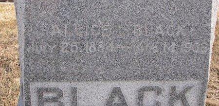 BLACK, ALLICE (CLOSE UP) - Dodge County, Nebraska   ALLICE (CLOSE UP) BLACK - Nebraska Gravestone Photos