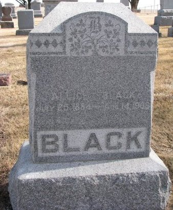 BLACK, ALLICE - Dodge County, Nebraska | ALLICE BLACK - Nebraska Gravestone Photos
