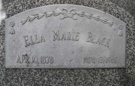 BLACK, ELLA MARIE (CLOSE UP) - Dodge County, Nebraska | ELLA MARIE (CLOSE UP) BLACK - Nebraska Gravestone Photos