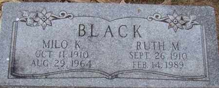 BLACK, MILO K. - Dodge County, Nebraska | MILO K. BLACK - Nebraska Gravestone Photos