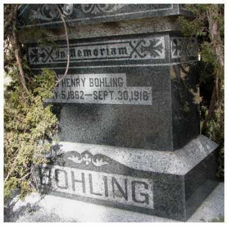 BOHLING, HENRY - Dodge County, Nebraska | HENRY BOHLING - Nebraska Gravestone Photos