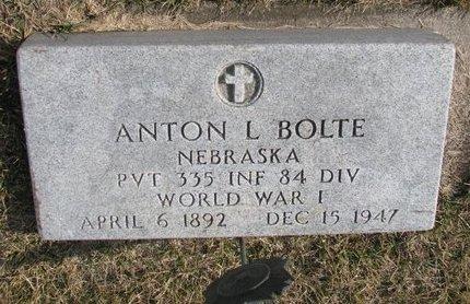 BOLTE, ANTON L. - Dodge County, Nebraska | ANTON L. BOLTE - Nebraska Gravestone Photos
