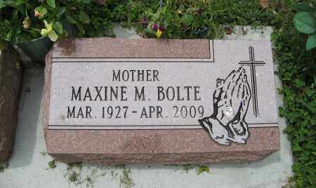 BOLTE, MAXINE M. - Dodge County, Nebraska | MAXINE M. BOLTE - Nebraska Gravestone Photos