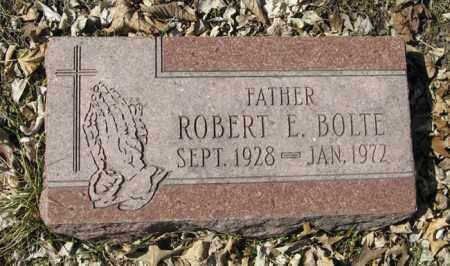 BOLTE, ROBERT E. - Dodge County, Nebraska | ROBERT E. BOLTE - Nebraska Gravestone Photos
