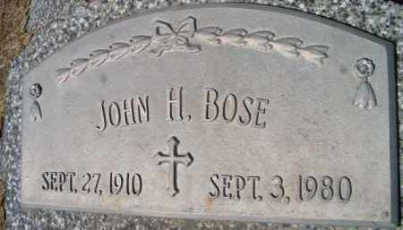 BOSE, JOHN H (CLOSE-UP) - Dodge County, Nebraska | JOHN H (CLOSE-UP) BOSE - Nebraska Gravestone Photos