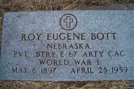 BOTT, ROY EUGENE (MILITARY MARKER) - Dodge County, Nebraska   ROY EUGENE (MILITARY MARKER) BOTT - Nebraska Gravestone Photos