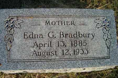 BRADBURY, EDNA G - Dodge County, Nebraska | EDNA G BRADBURY - Nebraska Gravestone Photos