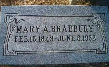 BRADBURY, MARY A - Dodge County, Nebraska | MARY A BRADBURY - Nebraska Gravestone Photos