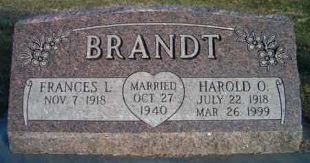 BRANDT, HAROLD O - Dodge County, Nebraska | HAROLD O BRANDT - Nebraska Gravestone Photos