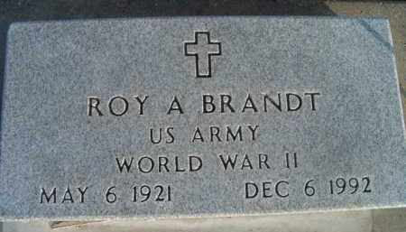 BRANDT, ROY A (MILITARY MARKER) - Dodge County, Nebraska | ROY A (MILITARY MARKER) BRANDT - Nebraska Gravestone Photos