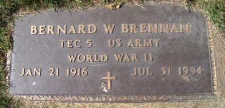 BRENNAN, BERNARD W. (MILITARY MARKER) - Dodge County, Nebraska | BERNARD W. (MILITARY MARKER) BRENNAN - Nebraska Gravestone Photos