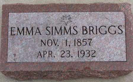 BRIGGS, EMMA - Dodge County, Nebraska | EMMA BRIGGS - Nebraska Gravestone Photos