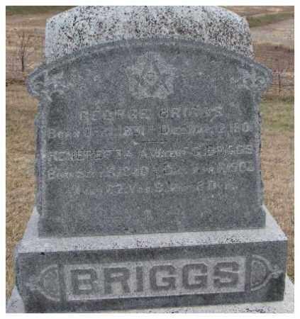BRIGGS, GEORGE - Dodge County, Nebraska | GEORGE BRIGGS - Nebraska Gravestone Photos