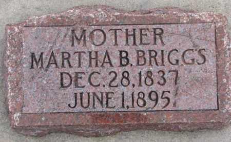 BRIGGS, MARTHA B. - Dodge County, Nebraska   MARTHA B. BRIGGS - Nebraska Gravestone Photos