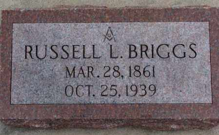 BRIGGS, RUSSELL L. - Dodge County, Nebraska | RUSSELL L. BRIGGS - Nebraska Gravestone Photos