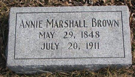 BROWN, ANNIE - Dodge County, Nebraska | ANNIE BROWN - Nebraska Gravestone Photos
