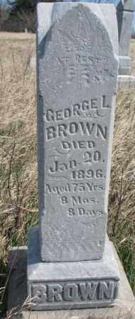 BROWN, GEORGE L. - Dodge County, Nebraska | GEORGE L. BROWN - Nebraska Gravestone Photos