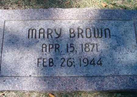 BROWN, MARY - Dodge County, Nebraska | MARY BROWN - Nebraska Gravestone Photos