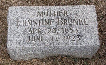 METSCHKE BRUNKE, ERNSTINE - Dodge County, Nebraska | ERNSTINE METSCHKE BRUNKE - Nebraska Gravestone Photos