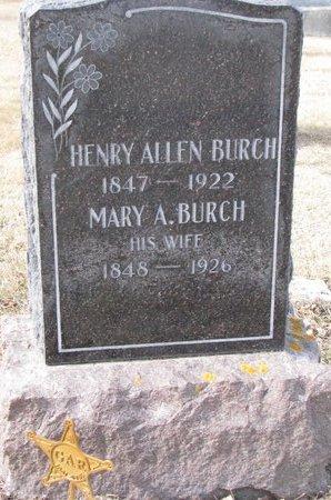 BURCH, HENRY ALLEN - Dodge County, Nebraska   HENRY ALLEN BURCH - Nebraska Gravestone Photos