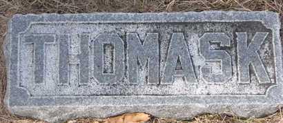 HARVIE, THOMAS K. (FOOTSTONE) - Dodge County, Nebraska | THOMAS K. (FOOTSTONE) HARVIE - Nebraska Gravestone Photos