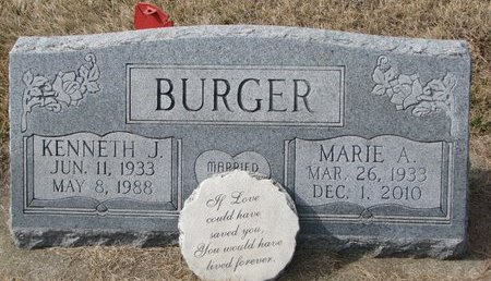 BURGER, KENNETH J. - Dodge County, Nebraska | KENNETH J. BURGER - Nebraska Gravestone Photos
