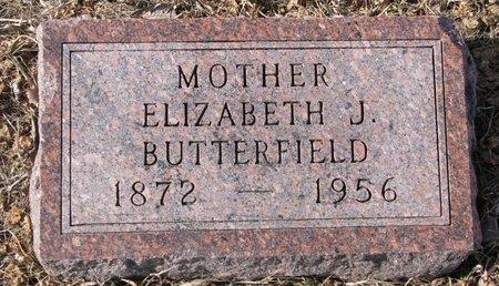 BUTTERFIELD, ELIZABETH JANE - Dodge County, Nebraska | ELIZABETH JANE BUTTERFIELD - Nebraska Gravestone Photos
