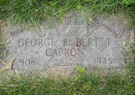 CAPRON, GEORGE ROBERT T - Dodge County, Nebraska | GEORGE ROBERT T CAPRON - Nebraska Gravestone Photos