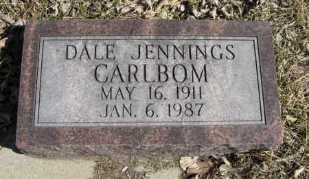 CARLBOM, DALE JENNINGS - Dodge County, Nebraska   DALE JENNINGS CARLBOM - Nebraska Gravestone Photos