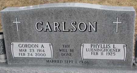 CARLSON, GORDON A. - Dodge County, Nebraska   GORDON A. CARLSON - Nebraska Gravestone Photos