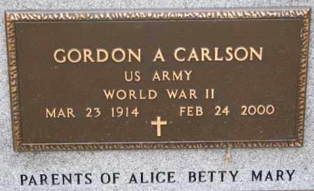 CARLSON, GORDON A. (WW II) - Dodge County, Nebraska | GORDON A. (WW II) CARLSON - Nebraska Gravestone Photos