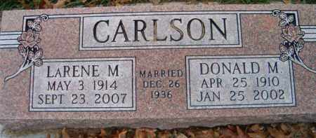 CARLSON, DONALD M - Dodge County, Nebraska | DONALD M CARLSON - Nebraska Gravestone Photos