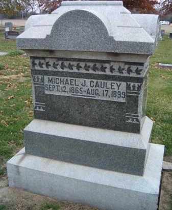 CAULEY, MICHAEL J - Dodge County, Nebraska | MICHAEL J CAULEY - Nebraska Gravestone Photos
