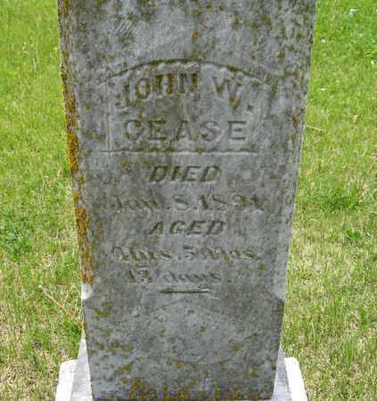 CEASE, JOHN W. (CLOSE UP) - Dodge County, Nebraska | JOHN W. (CLOSE UP) CEASE - Nebraska Gravestone Photos
