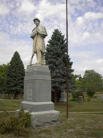 *CENTRAL MONUMENT, WOODLAND CEMETERY - Dodge County, Nebraska | WOODLAND CEMETERY *CENTRAL MONUMENT - Nebraska Gravestone Photos