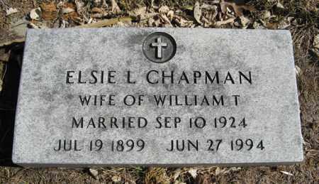 CHAPMAN, ELSIE L. - Dodge County, Nebraska | ELSIE L. CHAPMAN - Nebraska Gravestone Photos