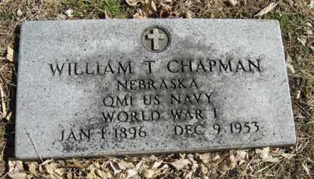 CHAPMAN, WILLIAM T. - Dodge County, Nebraska | WILLIAM T. CHAPMAN - Nebraska Gravestone Photos