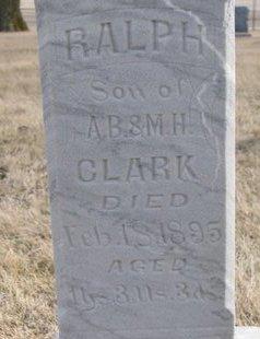 CLARK, RALPH (CLOSE UP) - Dodge County, Nebraska   RALPH (CLOSE UP) CLARK - Nebraska Gravestone Photos