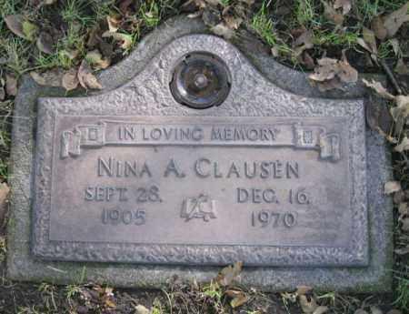 CLAUSEN, NINA A. - Dodge County, Nebraska | NINA A. CLAUSEN - Nebraska Gravestone Photos