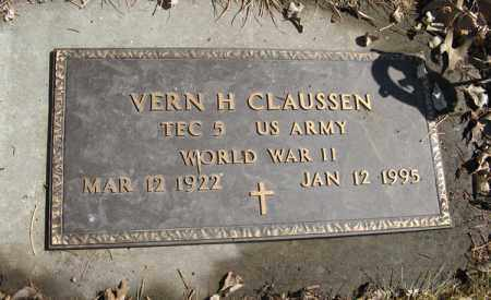 CLAUSSEN, VERN H. (MILITARY MARKER) - Dodge County, Nebraska | VERN H. (MILITARY MARKER) CLAUSSEN - Nebraska Gravestone Photos