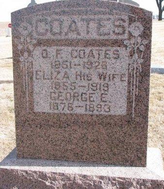 COATES, ELIZA - Dodge County, Nebraska | ELIZA COATES - Nebraska Gravestone Photos