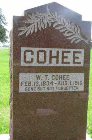 COHEE, W.T. - Dodge County, Nebraska | W.T. COHEE - Nebraska Gravestone Photos