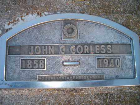 CORLESS, JOHN C - Dodge County, Nebraska | JOHN C CORLESS - Nebraska Gravestone Photos