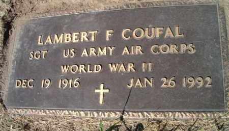 COUFAL, LAMBERT F (MILITARY MARKER) - Dodge County, Nebraska | LAMBERT F (MILITARY MARKER) COUFAL - Nebraska Gravestone Photos
