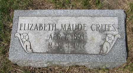 CRITES, ELIZABETH MAUDE - Dodge County, Nebraska | ELIZABETH MAUDE CRITES - Nebraska Gravestone Photos
